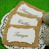Personalized Burlap Place Cards with Acrylic Stand