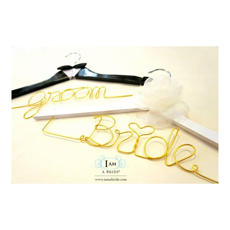 Wedding Gifts For Bride And Groom Philippines : Home > Gifts & Cards > Groom and Bride Wedding Hanger