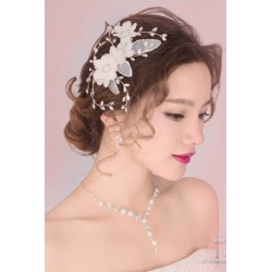 Korean Bridal 3-pieces Style ( Necklace + Earring + Hair Pin )
