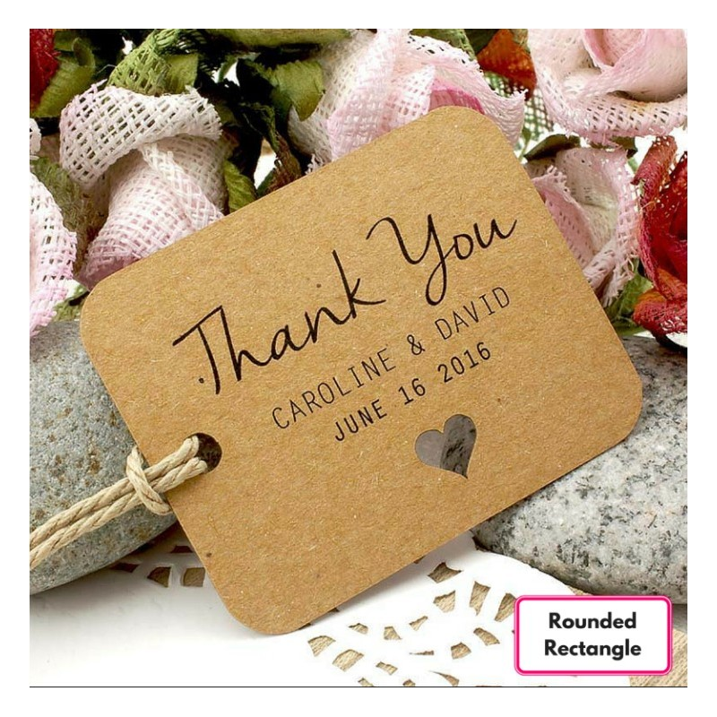 Personalized Brown Kraft Wedding Favor Thank You Gift