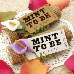 "Personalized ""Mint to Be"" Wedding Favor Gift Tags"