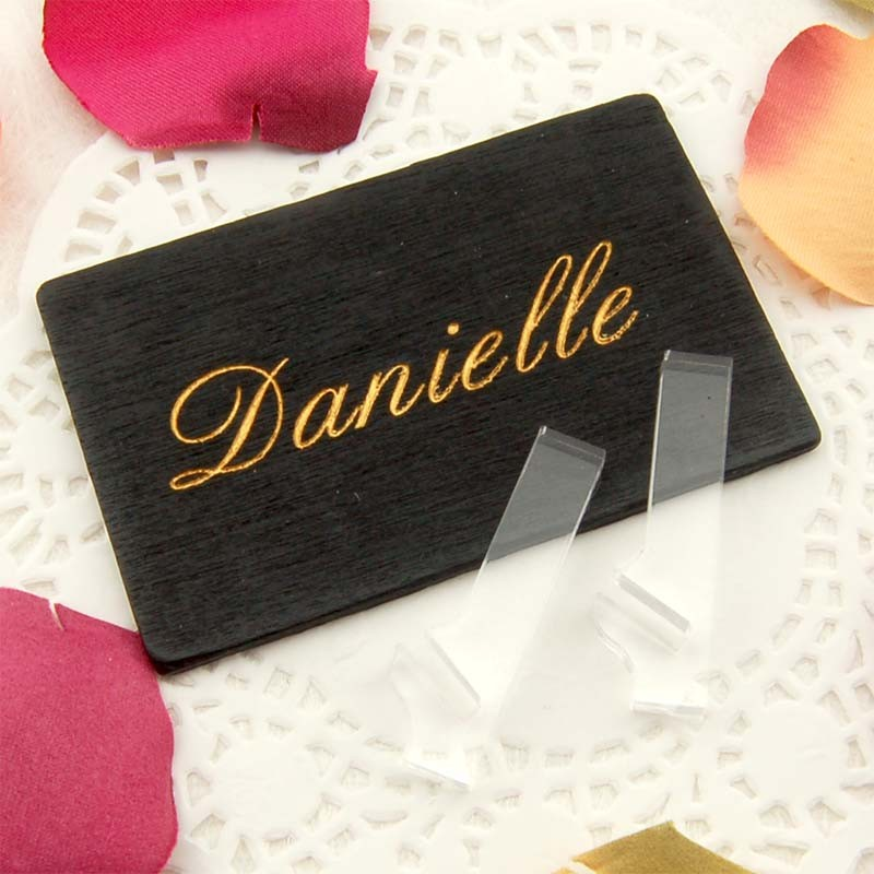 Personalized mini blackboard place cards gifts cards for Personalized wedding place cards