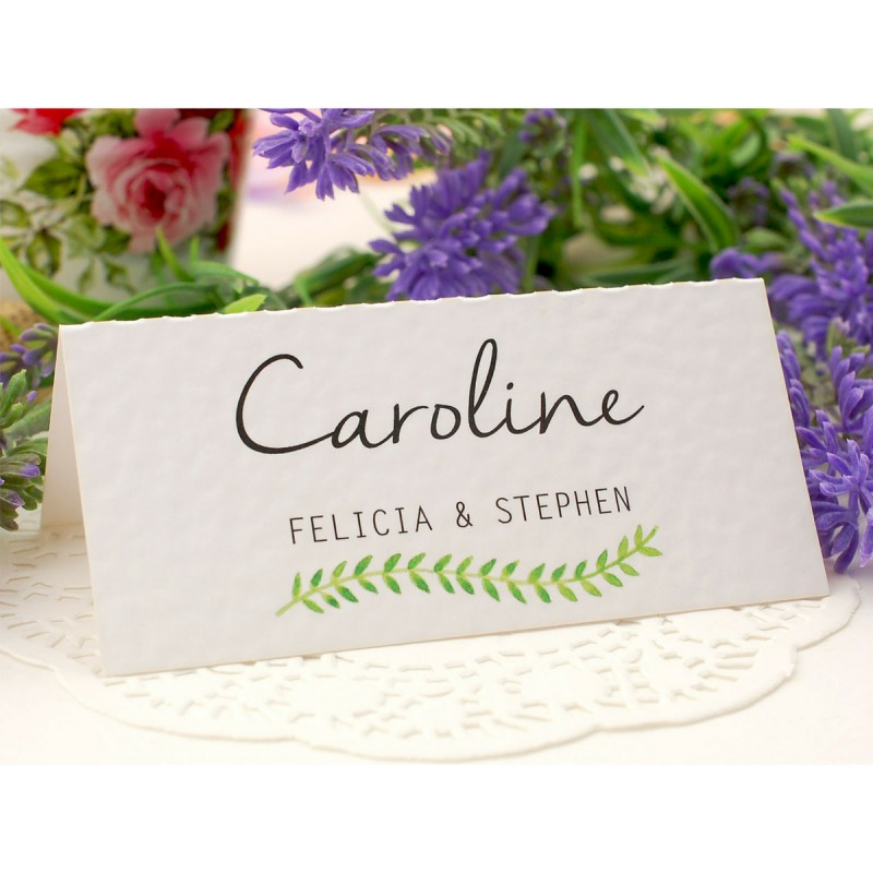 Personalized spring summer place card 6 designs for Personalized wedding place cards