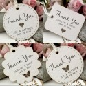 Personalized White Wedding Favor / Thank You / Gift Tags (Set A - 5 Designs)