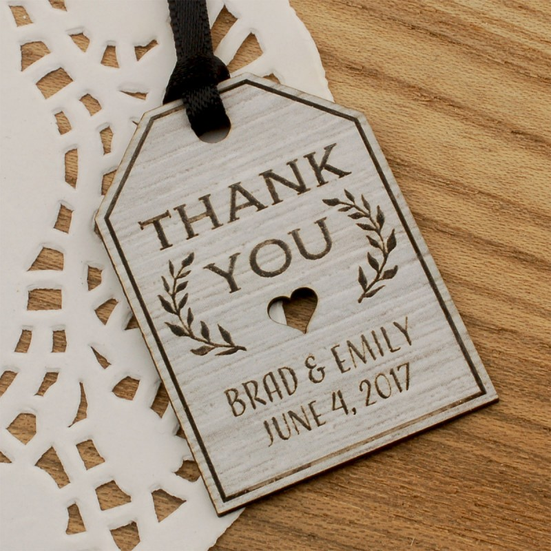 Personalized Laser Engraved Formica Wedding Gift Tags 4 Designs