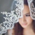 Wedding Veil with Elegant Floral Embroidery ( 3m )