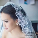 Wedding Veil with Gorgeous Floral Embroidery ( 3m )