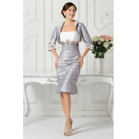 Silver and White Evening Dresses