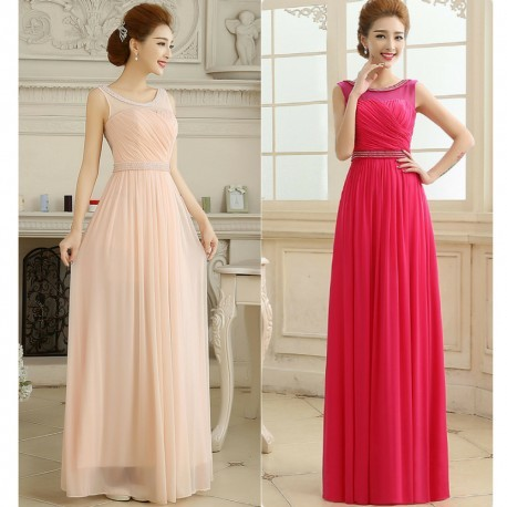 2016 New Summer Sleeveless Bride Evening Dress