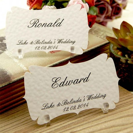 Personalized Die Cut Place Card with Acrylic Stand (10-100 pieces)