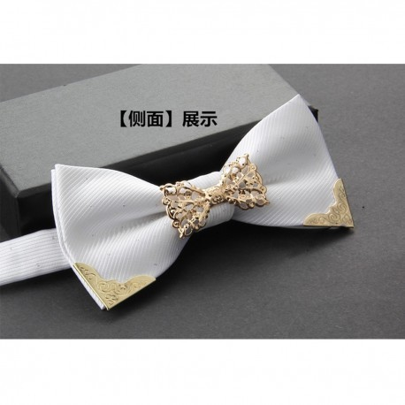 Wedding Gifts For Bride And Groom Philippines : Home > Fashion > Korean Style Grooms White Metalic Bow Tie