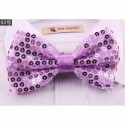 Colorful Double Layer Sequin Bow Tie