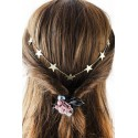 Trendy Solid Color Gold Plated Star Charm Hairband
