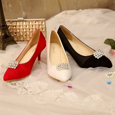 Luxury Bridal Low Pointed Toe Pumps