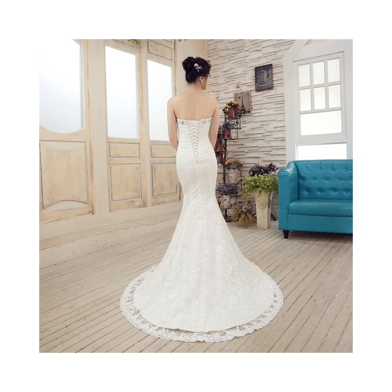 2017 new arrival vintage mermaid style lace wedding dress for Vintage mermaid style wedding dresses