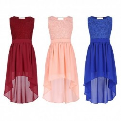Duo-Length Lace Chiffon Classic Flowergirl Dress (2 Colors)