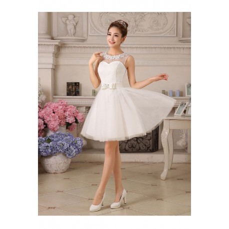 2017 New Arrival Korean Style Sleveeless Short Bridesmaid Dress