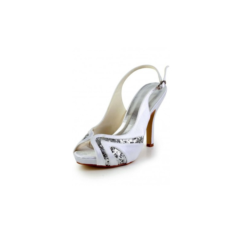 Sparkle peep toe wedding shoes bridal shoes - My peep toes ...