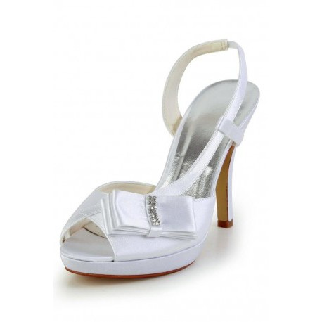 Side Ribbon Wedding Shoes