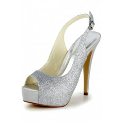 Faux Peep-Toe Wedding Shoes