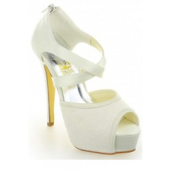 Bondie Peep-Toe Wedding Shoes