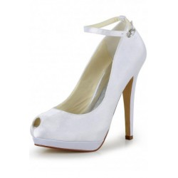 Alma Peep-Toe Wedding Shoes