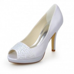 Karyn Peep-Toe Wedding Shoes