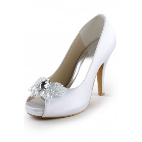 Mary Peep-Toe Wedding Shoes