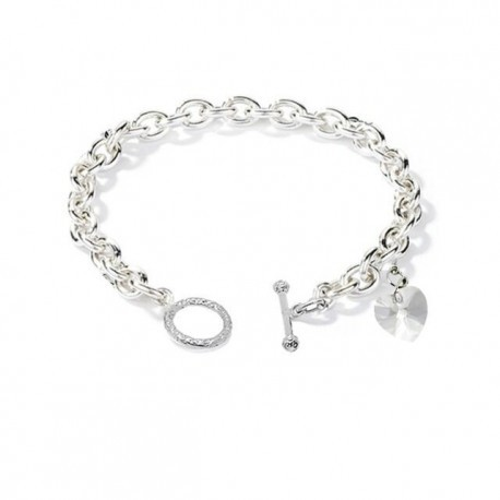 Ocean Love SWAROVSKI  Elements Charms in 18K  White Gold Plated