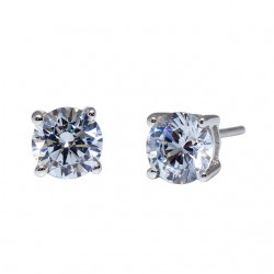 Kelvin Gems Premium 4 Prong Solitaire Stud Earrings m/w SWAROVSKI Zirconia