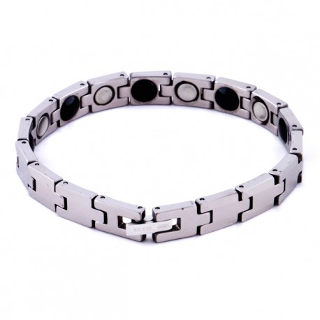 Kelvin Gems Sporteo Men's Healthcare Magnetic Bead Tungsten Bracelet