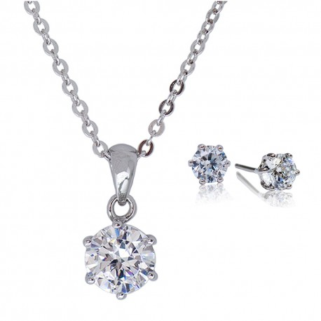 Kelvin Gems 6 Prong Solitaire Gift Set