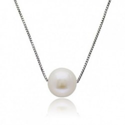 Classic Only You Fresh Water Pearl Pendant Necklace Crafted by Angie