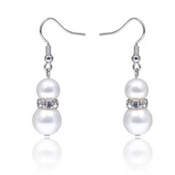 Kelvin Gems Classic Glam Eugenia Fresh Water Pearl Hook Earrings