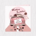 Just Married Couple Folded Cards - 100 pcs (3 Colors)