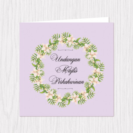 Spring Wreath Folded Cards - 100 pcs (3 Colors)
