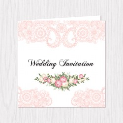 Vintage Lace Folded Cards - 100 pcs (3 Colors)