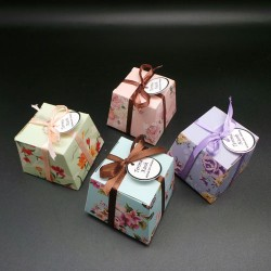 Vintage Flower Large DIY Paper Box (100 Pieces)