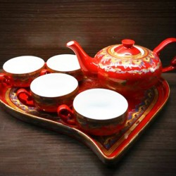 Chinese Tea Pot ( Cha Ju - Long Sheng Si Hai A La Ding )