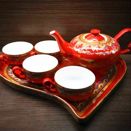 Chinese Tea Pot (Cha Ju - Long Sheng Si Hai A La Ding)